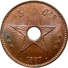 5 centimes - Léopold II – revers