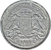 5 francs - Léopold II (Essai) – revers