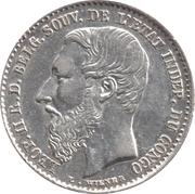 50 centimes - Léopold II – avers