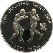 2 000 won (jeux olympiques) – revers