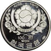 100 won (amiral Sun Sin Lee) – avers