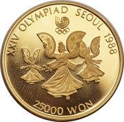25 000 Won (jeux olympiques) – revers
