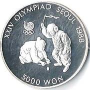 5 000 won (jeux olympiques) – revers