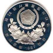 10 000 won (jeux olympiques) – avers