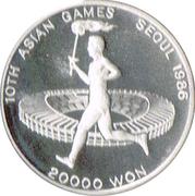 20 000 won (jeux asiatiques) – revers