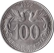 100 hwan -  avers