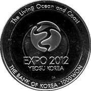 1000 Won - (EXPO 2012) – revers