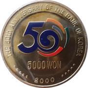 5000 Won (Bank of Korea) – revers