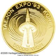 50000 Won - Taejon International Exposition – revers