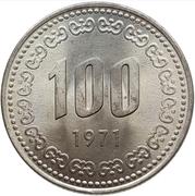 100 won – revers