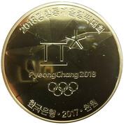1000 Won (Pyeong Chang 2018 Olympic Winter Games) – avers