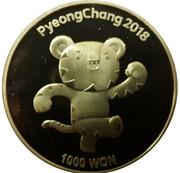 1000 Won (Pyeong Chang 2018 Olympic Winter Games) – revers