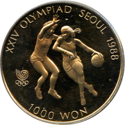 1 000 won (jeux olympiques) – revers