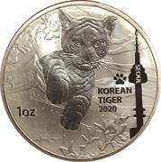 1 once d'argent (Korean Tiger) -  avers