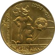 1 000 won (coupe du monde de football) – revers