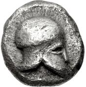 Trihemiobol (Corinth) – avers