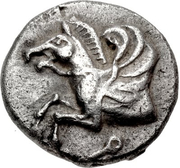 Hemidrachm (Corinth) – avers