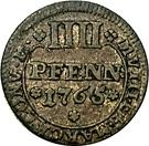 4 Pfennig - Philipp von Spiegel – revers