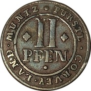 2 pfennig Florenz von dem Felde – revers