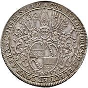 1 thaler Christoph de Bellinghausen – avers