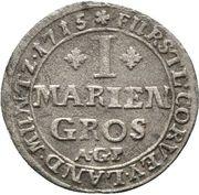 1 Mariengroschen - Maximilian von Horrich – revers