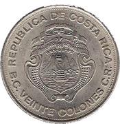 20 colones (25 ans de la banque centrale) -  avers