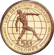 50 colones (Convention inter-Amérique sur les droits de l'homme) – revers