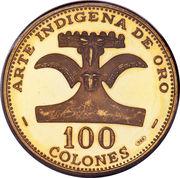 100 colones (Convention inter-Amérique sur les droits de l'homme) – revers