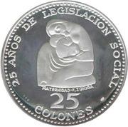 25 Colones (25 ans de la législation sociale) – revers