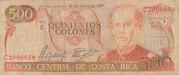 500 Colones – avers