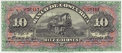 10 Colones (Banco de Costa Rica) – avers