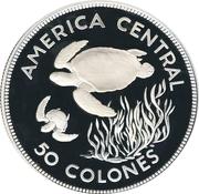 Costa Rica, 50 Colones, 1974 (Proof) REPUBLICA DE COSTA RICA – revers