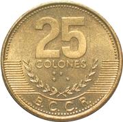 25 colones -  revers