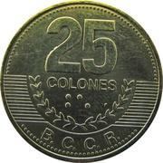 25 colones (2ème armoiries, magnétique) -  revers