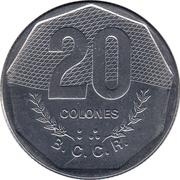 20 colones -  revers