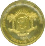 """100 Francs CFA (dernier """"aigle"""" en argent) – avers"""
