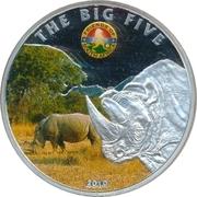 100 Francs CFA (Les Big Five : le rhinocéros) – revers