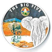 100 Francs CFA (Les Big Five : l'éléphant) – revers
