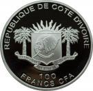 100 Francs CFA (Visite du Pape en Papouasie-Nouvelle-Guinée) – avers