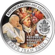 100 Francs CFA (Visite du Pape en Papouasie-Nouvelle-Guinée) – revers