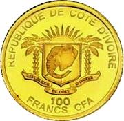 100 Francs CFA (Pape Benoît XV) – avers