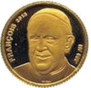 100 Francs CFA (Pape François) – revers