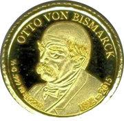 100 Francs CFA (Otto von Bismarck) – revers