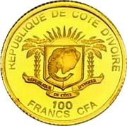 100 Francs CFA (Pape Jean-Paul II) – avers