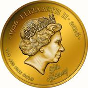 100 Francs CFA (90ème anniversaire d'Elizabeth II) – revers