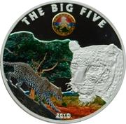 100 Francs CFA (Les Big Five : le léopard) – revers