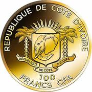 100 Francs CFA (Mausoleum of Halicarnassus) – avers