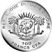 100 Francs CFA (Les Big Five : le lion) – avers