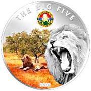 100 Francs CFA (Les Big Five : le lion) – revers