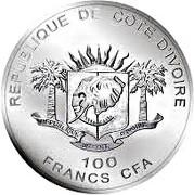 100 Francs CFA (Les Big Five : le buffle d'Afrique) – avers